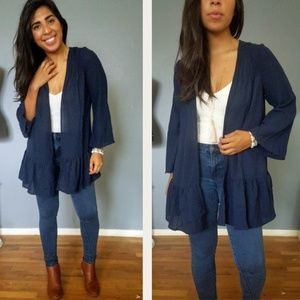 Sweaters - EVERYTHING IS BLUE NAVY CARDIGAN